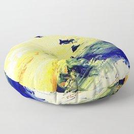 Abstract Yellow Dancer by Robert S. Lee Floor Pillow