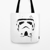 trooper Tote Bags featuring Trooper by Purple Cactus