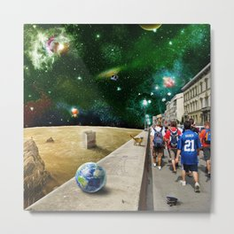 Space Walk Metal Print