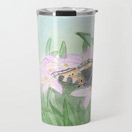Butterfly bee flower Travel Mug