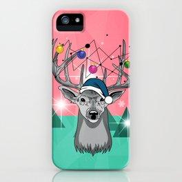 christmas deer iPhone Case