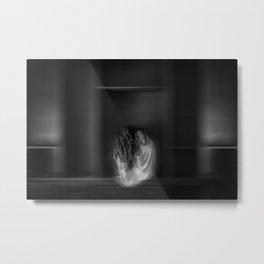 Inhale - fine art in black and white Metal Print