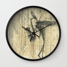 "SAXOPHONE. A SERIES OF WORKS ""MUSIC OF THE RAIN"" Wall Clock"
