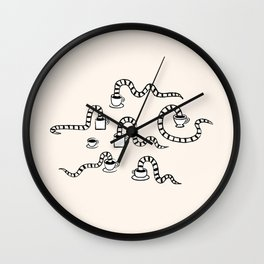 Some Snakes Love Coffee Wall Clock