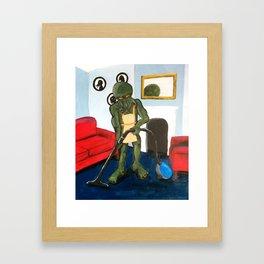 Cthulu doesn't do gender roles. Framed Art Print