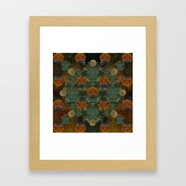 """Glass candy Mosaic (caramel pattern)"" Framed Art Print"
