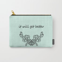 It well get better . Blue Carry-All Pouch