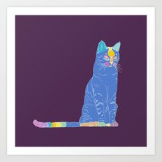 The cat Art Print