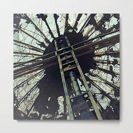 Hell House Cross Metal Print