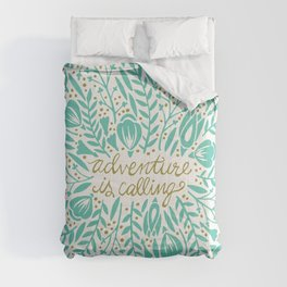 Adventure is Calling – Turquoise & Gold Palette Comforters