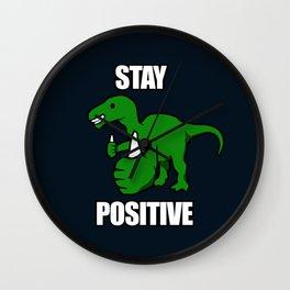 Stay Positive Iguanodon Wall Clock