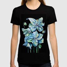 Watercolor Himalayan Blue Poppies T-shirt