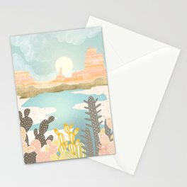 Retro Desert Oasis Stationery Cards