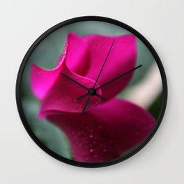 Flower Furls Cyclamen Wall Clock