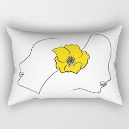 Two Girls with azalea Rectangular Pillow