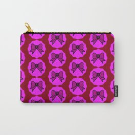 Party Bows /Red Carry-All Pouch