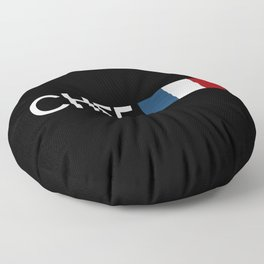 Chef (French Flag) Floor Pillow