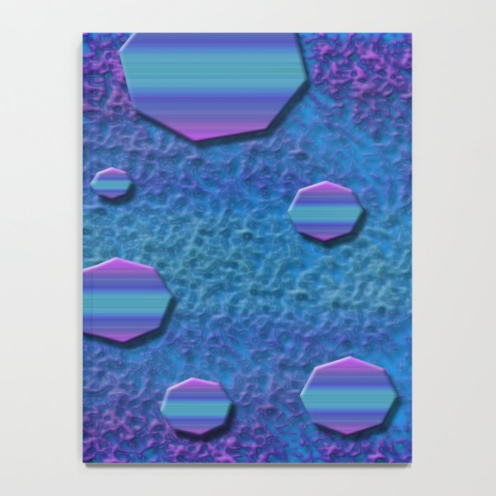 Celestial Octagon Orbs of Planet Neptune Notebook