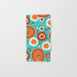 Floral amusement park Hand & Bath Towel