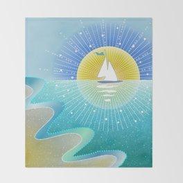 Sunny Sailing Throw Blanket
