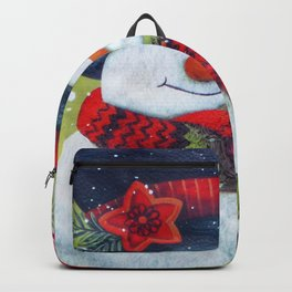 Snowman with Scarf Backpack
