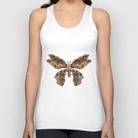 moth Tank Tops featuring moth by Marie Lisborg