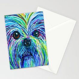 Shih Tzu Intense Colors Stationery Cards