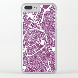 Brussels City Map II Clear iPhone Case