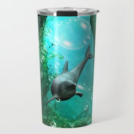 Swimming dolphin Travel Mug