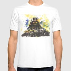 Darth Vader Star Wars Art Mens Fitted Tee White MEDIUM