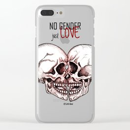 no gender just love Clear iPhone Case