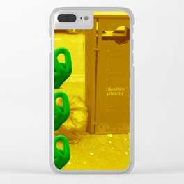 Rubbish (Yellow/Green) Clear iPhone Case