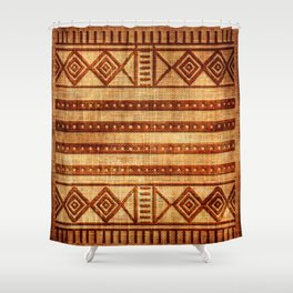 Embossed African Pattern Shower Curtain
