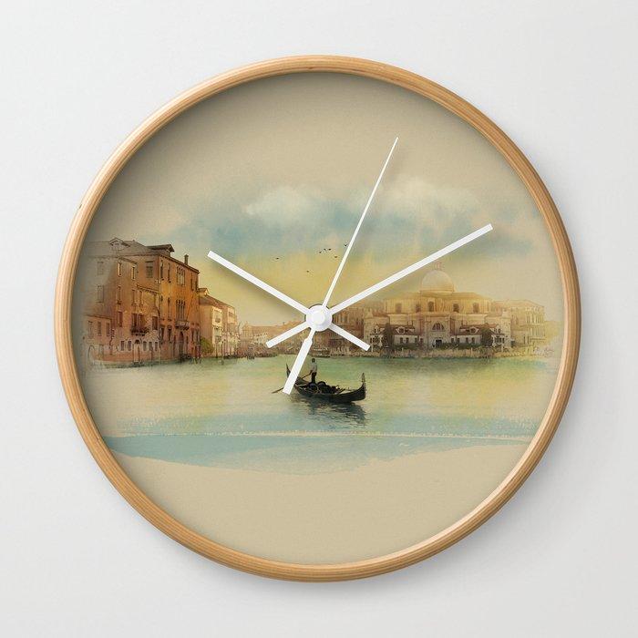 Early morning in Venice Wall Clock