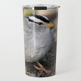 Profile of a White-Crowned Sparrow Travel Mug