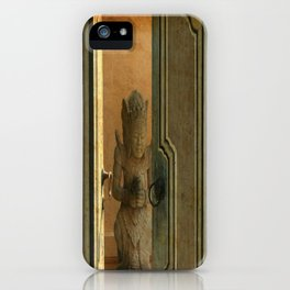 Leave the door opened iPhone Case