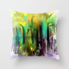 Colorful City Throw Pillow