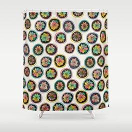 Hibotannishiki cactus Shower Curtain
