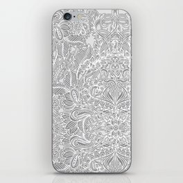 Frost & Ash - an Art Nouveau Inspired Pattern iPhone Skin