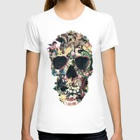 dark T-shirts featuring Vintage Skull by Ali GULEC