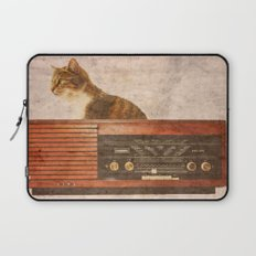 The Cat and the Radio Laptop Sleeve