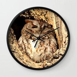 One eye open Wall Clock