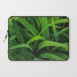 Fresh   Bright Green Spring Rain - Natural Imagery Laptop Sleeve