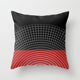 Geometric Rings Throw Pillow