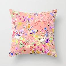 Soft bunnies pink Throw Pillow