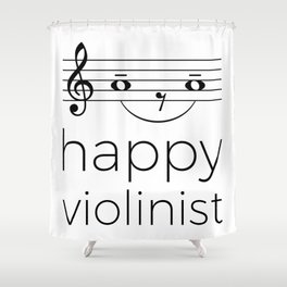 Happy violinist (light colors) Shower Curtain