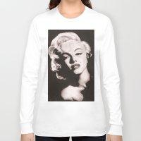monroe Long Sleeve T-shirts featuring Monroe by Juliana Marie