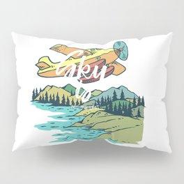 Road Trip Outdoor Adventure Propeller Sky T-Shirt - Design Illustration Print Artwork Gift Idea Tee Pillow Sham