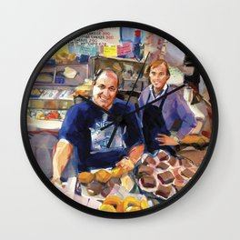 Maurice Margolis, proprietor of Sig's Deli, Newport Wall Clock