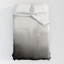 Modern Black and White Watercolor Gradient Bettbezug